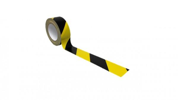Gewebeklebeband (Premium) - schwarz/gelb