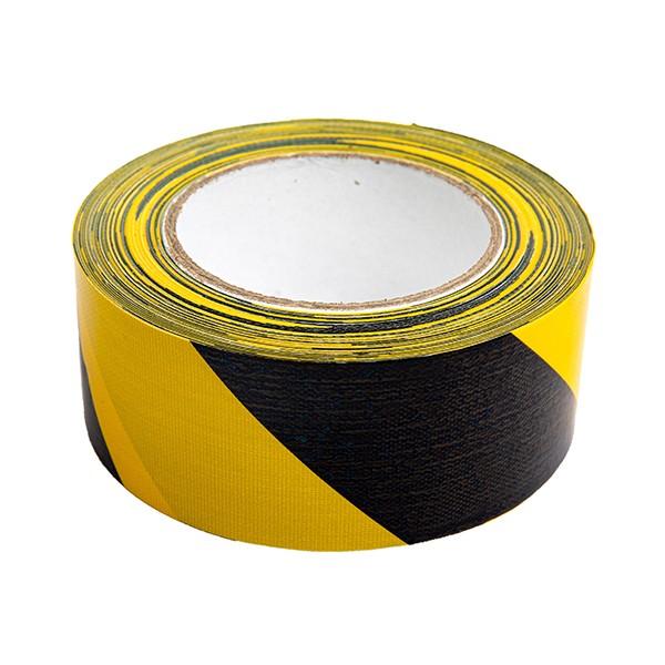 Gewebeklebeband (Premium) - schwarz/gelb 1