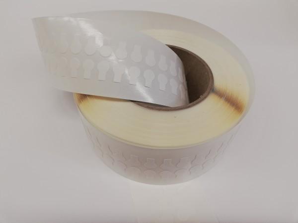 doppelseitige Klebepunkte mit Anfasslasche, 9mm