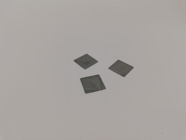 Metallplättchen aus verzinktem Stahl, 15x15x0,5mm